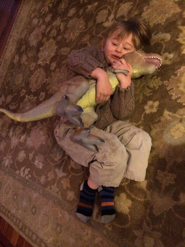 NH-Linus loves dinosaurs